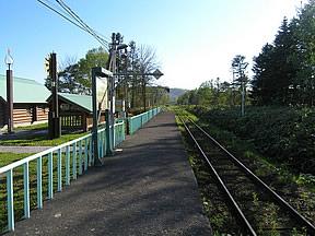 月ヶ岡駅(JR北海道・札沼線〔学...